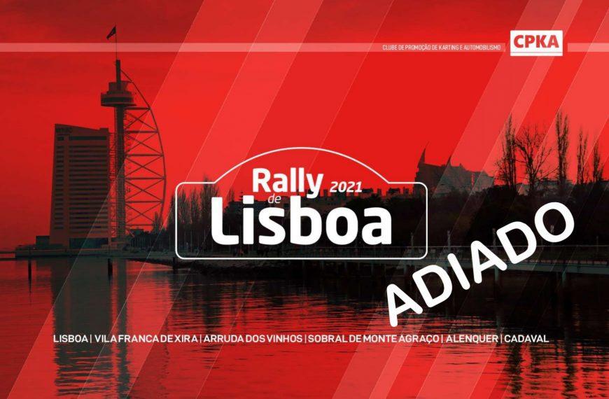 COMUNICADO: Rally de Lisboa foi adiado